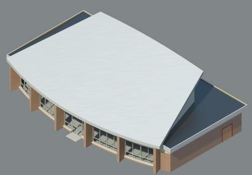 Computer Generated Model of Back of the Building